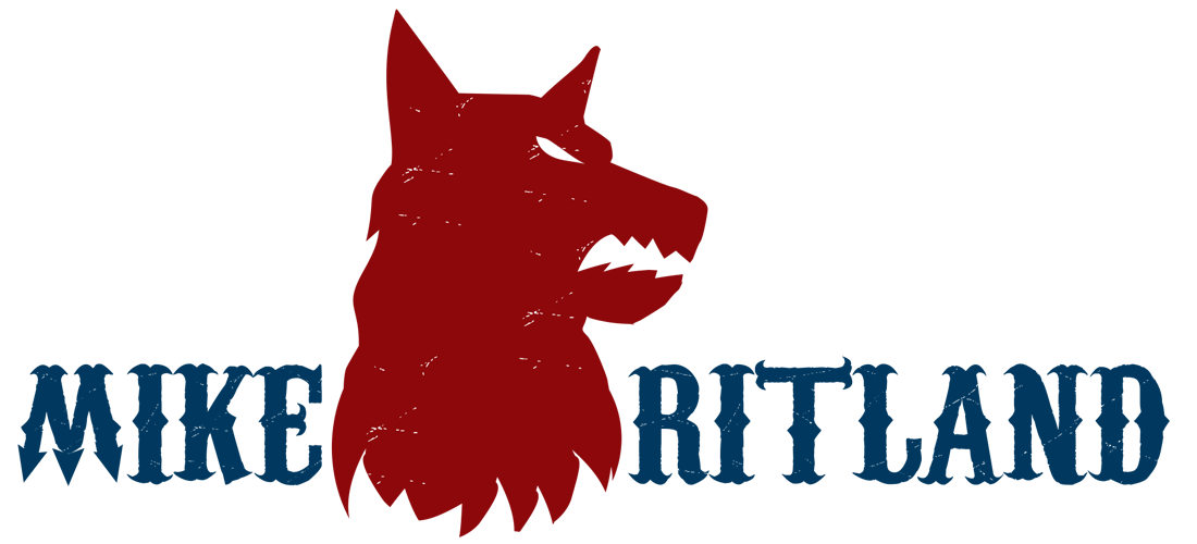 mike ritland logo with dog
